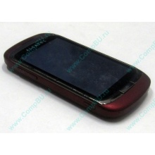 Красно-розовый телефон Alcatel One Touch 818 (Екатеринбург)
